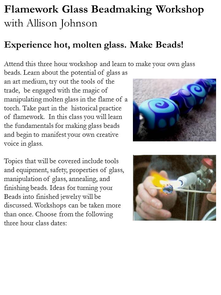 Flamework glass workshop poster