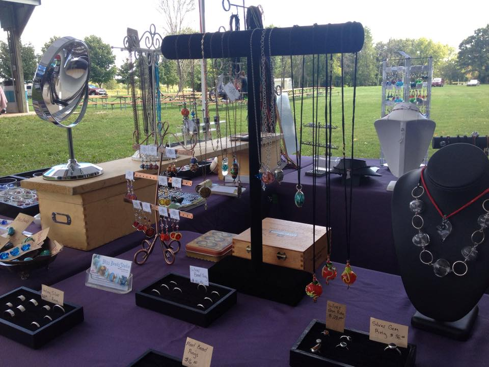 Bliss Beads outdoor display fiber in the park 2015