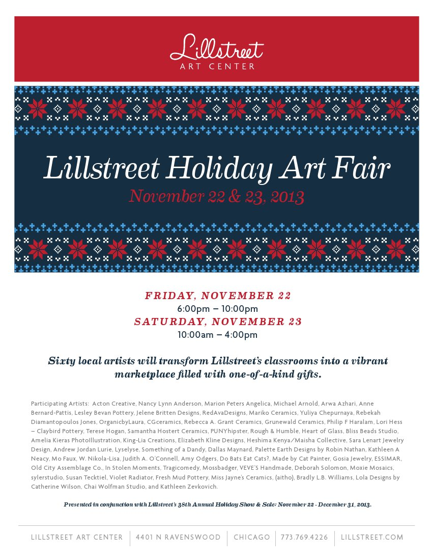 lillstreet art fair poster2013